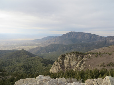 view of North peak from S peak