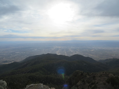 view of part of ABQ viewed West from the peak.